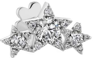 Maria Tash Diamond Star Garland Threaded Single Earring - White Gold