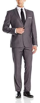 Nick Graham Men's Two Button Slim Fit Peak Lapel Suit