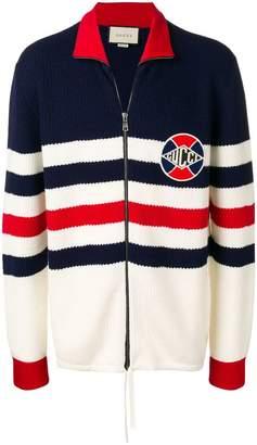 Gucci zip front cardigan