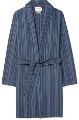 Oliver Spencer Loungewear Farrow Striped Organic Cotton Robe