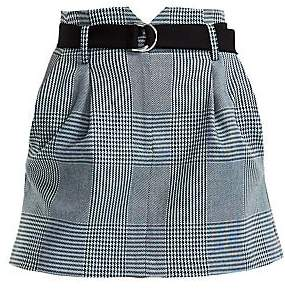 Maje Women's Jadie Prince Of Wales Check Mini A-Line Skirt