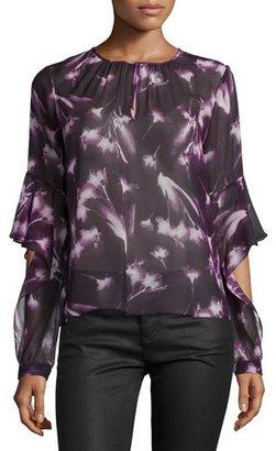 BCBGMAXAZRIA Geremi Long-Sleeve Blouse, Multicolor $198 thestylecure.com
