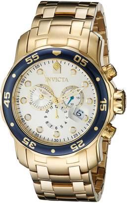 Invicta Men's 80067 Pro Diver Analog Display Swiss Quartz Gold Watch