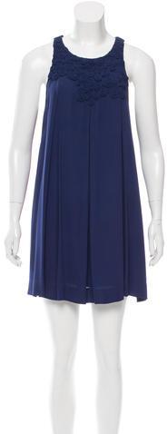 3.1 Phillip Lim3.1 Phillip Lim Crochet-Accented Mini Dress