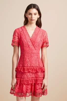 French Connenction Arta Lace Ruffle Dress
