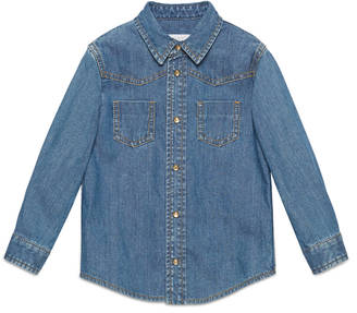 Children's denim shirt with Web $310 thestylecure.com