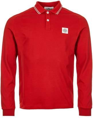 Stone Island Long Sleeve Polo Shirt - Red