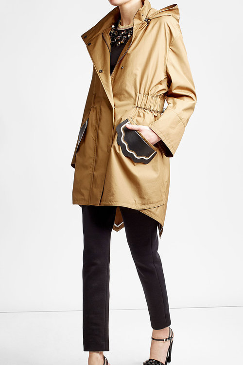Fendi Cotton Trench with Leather Patches