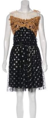 Rodarte Sleeveless Wool-Blend Dress