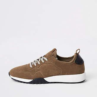 River Island Brown runner sneakers