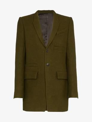 Rick Owens dirt single-breasted coat