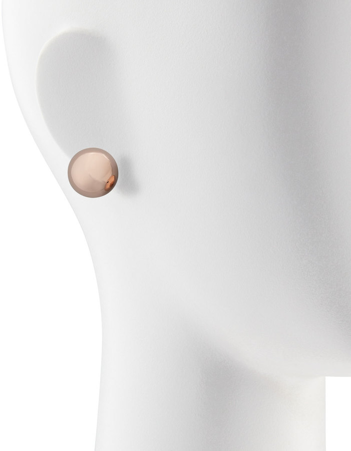 Kenneth Jay Lane Rose Golden Dome Stud Earrings