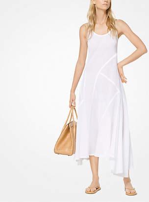 Michael Kors Linen-Gauze Bias Dress