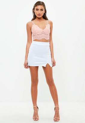 Missguided Pink Lace Bralette