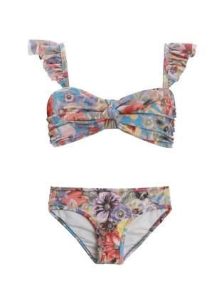 Zimmermann Lovelorn Frill Bandeau Bikini