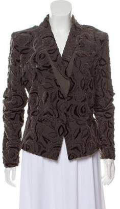 Armani Collezioni Velvet Jacquard Blazer