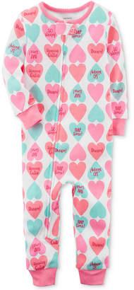 Carter's Heart-Print Cotton Pajamas, Baby Girls