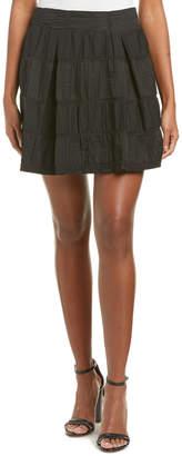 Nanette Lepore Roll It Linen-Blend Skirt