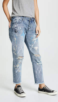 One Teaspoon Artiste Awesome Baggies Straight Leg Jeans