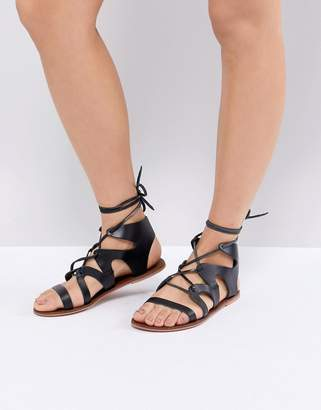 Warehouse Leather Gladiator Sandals