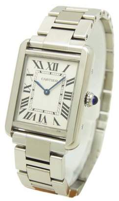 Cartier Tank Solo W5200013 Stainless Steel Silver Dial Quartz 24mm Womens Watch
