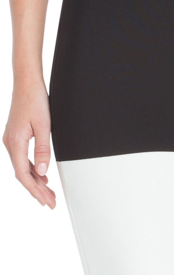 BCBGMAXAZRIA Scarlett Color-Blocked Power Skirt