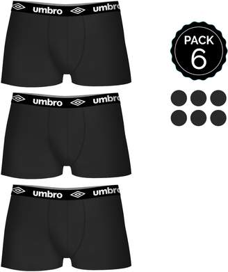 Umbro 6 pcs. Boxers Set 100% Cotton (x6)