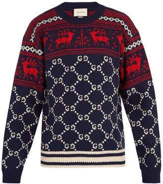 Gucci GG reindeer wool sweater