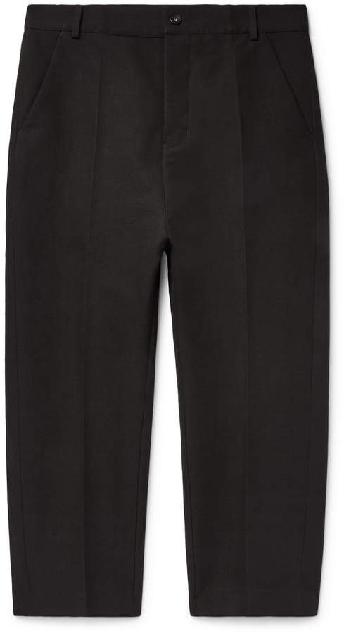 Rick Owens Slim-Fit Cotton-Blend Twill Trousers