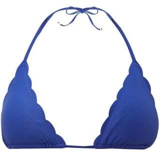 Heidi Klein Amoudi Bay Scalloped Triangle Bikini Top - Womens - Blue