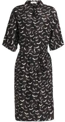 Nina Ricci Printed Silk Crepe De Chine Shirtdress