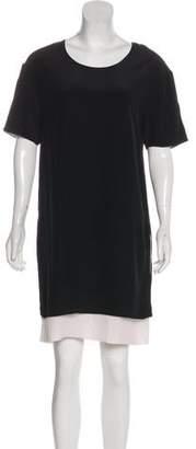 Edun Silk Short Sleeve Knee-Length Dress