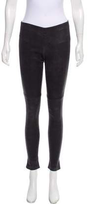 Theory Low-Rise Leather Leggings