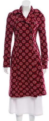 Diane von Furstenberg Printed Double-Breasted Coat