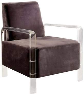 Benzara Flannelette Fabric Accent Chair