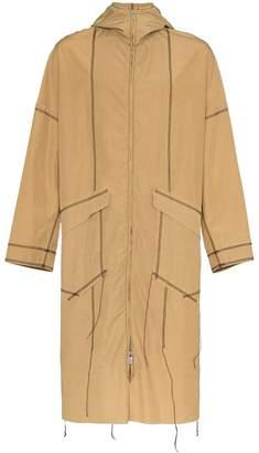 Sulvam long sleeve zip up rain coat