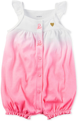 Carter's Ombre Cotton Romper, Baby Girls (0-24 months) $14 thestylecure.com