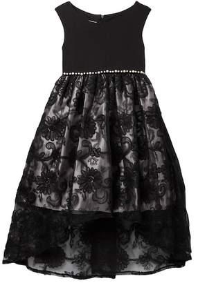 Iris & Ivy Soutache Skirt Social Dress (Little Girls)