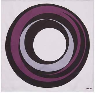 Tom Ford Circle Print Pocket Square
