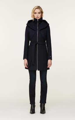 Soia & Kyo ARYA novelty wool coat with dramatic hood