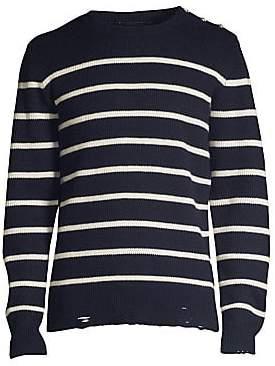 The Kooples Men's Striped Crewneck Sweater