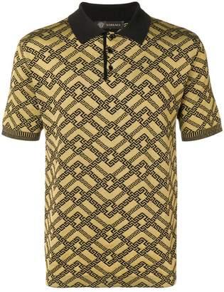 Versace printed polo shirt