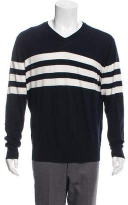 Vince Striped V-Neck Sweater