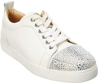 Christian Louboutin Junior Strass Leather Sneaker