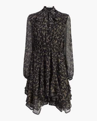 Jonathan Simkhai Printed Silk Chiffon Boho Dress