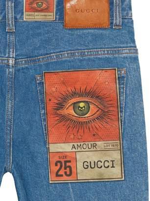 Gucci Stretch denim flare pant
