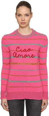 Ciao Amore Striped Wool & Lurex Sweater