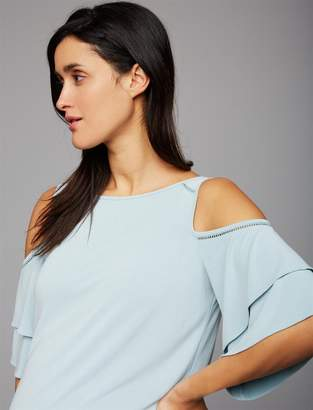 A Pea in the Pod Cold Shoulder Maternity Top
