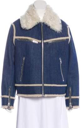 8371fc61d673f Rag & Bone Andrew Shearling Denim Jacket w/ Tags