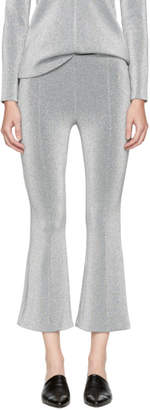 Rosetta Getty Silver Cropped Flared Trousers